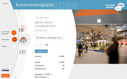Eventmedienplaner Berlin HBF
